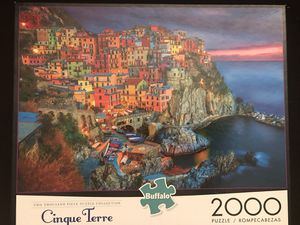Buffalo Games - Cinque Terre, Italy - 2000 Piece Jigsaw Puzzle for Sale in Mableton, GA