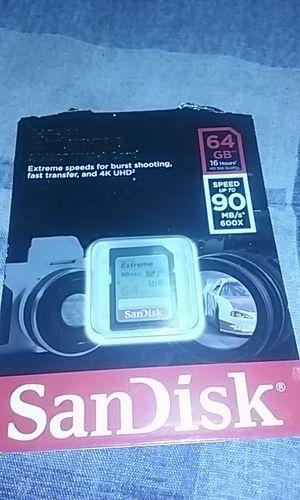 SanDisk extreme sdxc uhs 64gb for Sale in Nashville, TN