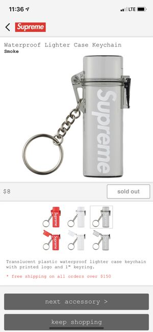 SUPREME LIGHTER CASE (DARK GREY) for Sale in Fontana, CA