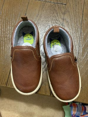 Brown leather slip on toddler boy size 7 for Sale in Sacramento, CA