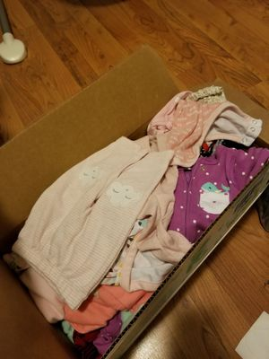 NEWBORN CLOTHES AND SIZE 1 DIAPERS for Sale in Austin, TX