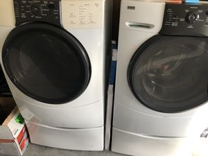 Kenmore washer and dryer with pedestals for Sale in Davenport, FL