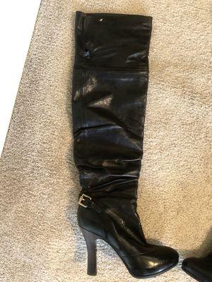 Thigh high Genuine Italian Leather Maxmara black boots for Sale in San Francisco, CA