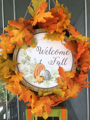 Fall wreaths extra plaque attached for Sale in Punta Gorda, FL