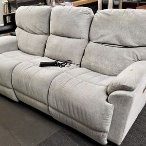 Gray Fabric Electric Reclining Couch - Delivery Available for Sale in Tacoma, WA
