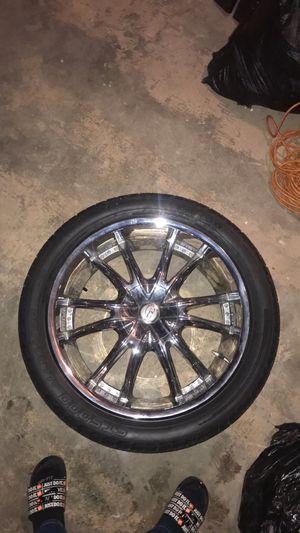 22s rims & tire for Sale in Wichita, KS