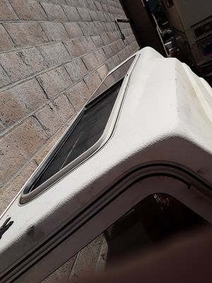 White long bed camper shell for Sale in Lake Elsinore, CA