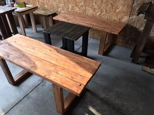 Outdoor indoor wood furniture set for Sale in Sheffield, OH