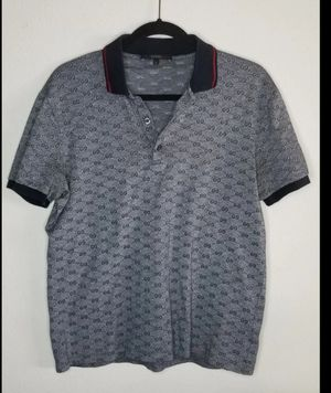 be7628c60 Gucci Shirt Men T-Shirt Large Polo (Runs Small) 100% Authentic,