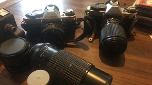 Cannon AE-1 35mm cameras COMPLETE SET for Sale in Crewe, VA