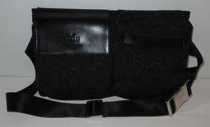 GG Monogram Black Waist Fanny Pack Belt Bag Purse Handbag New for Sale in Denton, TX