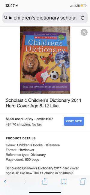 Scholastic Children's Dictionary 2011 Hard Cover Age 8-12 Like for Sale in Atlanta, GA