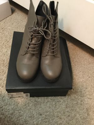 Aldo Grey Boots with back zippers for Sale in Laurel, MD