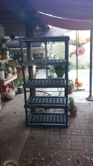 6 foot plastic shelving for Sale in Chandler, AZ
