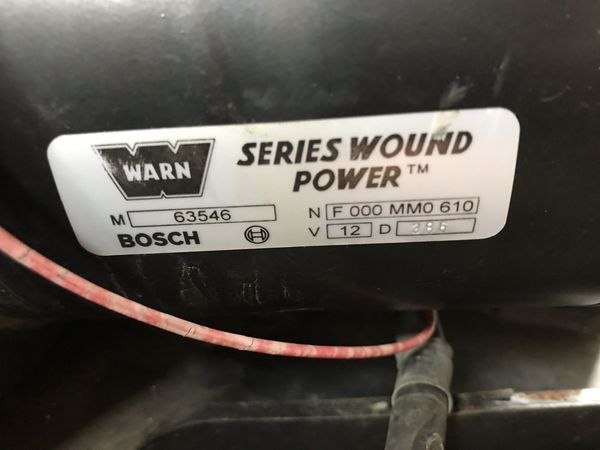 Warn winch 9.5ti
