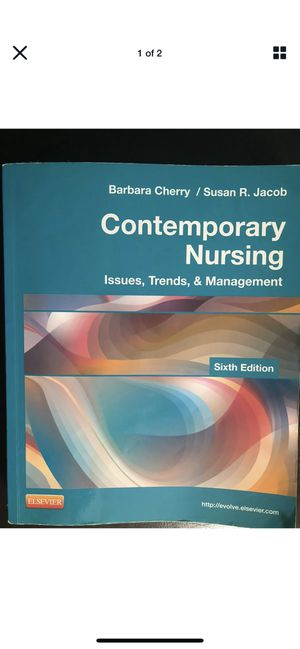 Contemporary Nursing: Issues, Trends & Management by B Cherry & S Jacob for Sale in Middletown, NJ