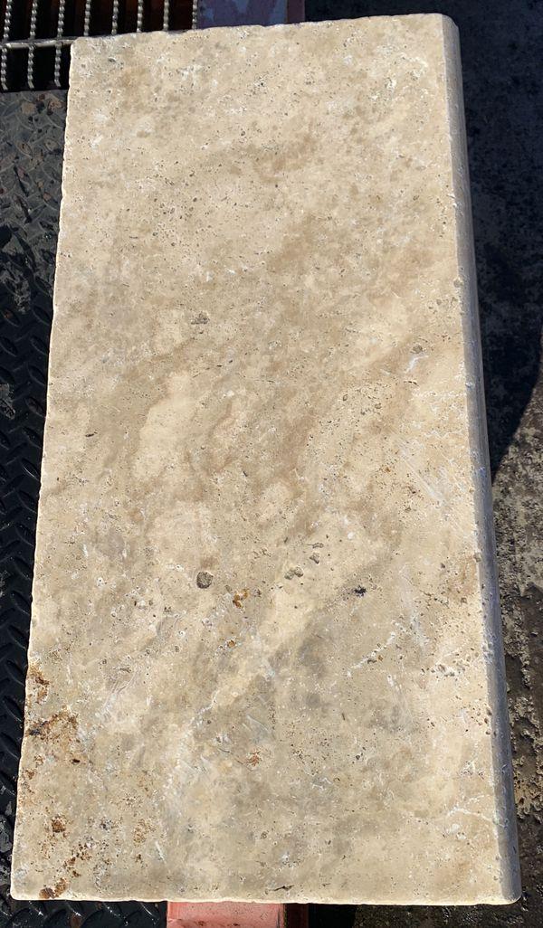 Tuscany Walnut Travertine 12x24 and 16x24 Pool Coping