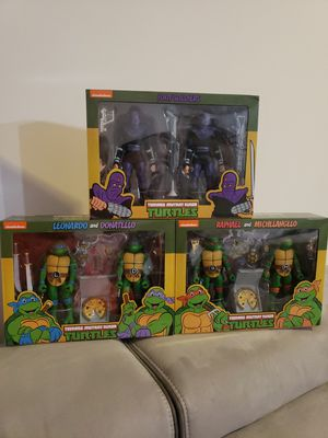 NECA TMNT Target Exclusives Foot Soldiers Leo Don Mike & Raph for Sale in Woodbridge, VA