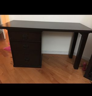 Wooden desk with three drawers for Sale in Miami, FL