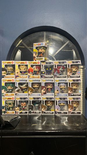 My Hero and Kingdom Hearts pops for sale for Sale in Miles, TX