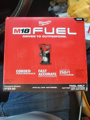 Brand new Milwaukee M18 fuel compact router tool only for Sale in Fort Mill, SC