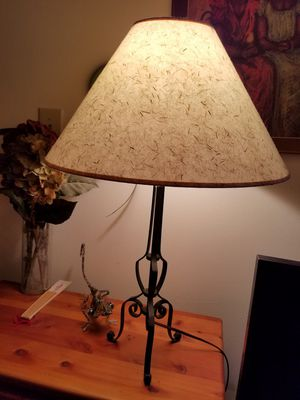 Table lamp with pressed grass shade for Sale in Washington, DC