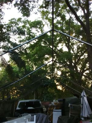 19 by 24 tent frame with mesh wrap around for Sale in Orlando, FL