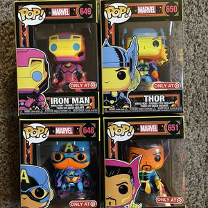 Funko Pop Marvel Blacklight 4pk for Sale in Fresno, CA