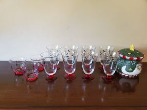 Christmas Decor - Pfaltzgraff Winterberry Goblet Set for Sale in Worcester, MA