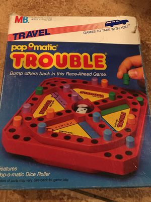 Vintage ant Tavel pop matic trouble game games bored toys kids collector 1990s for Sale in Rancho Cucamonga, CA