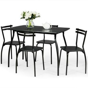 New Black 5 Pcs Dining Set Table for Sale in Hacienda Heights, CA