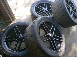 18 Black Corvette style wheels for Sale in Fresno, CA