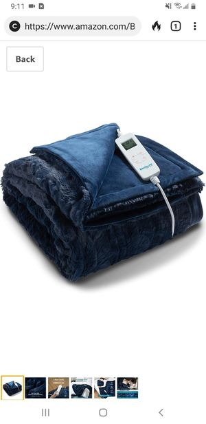 Gray color, Bedsure Heated Blanket Throw Electric - with 6 Heat Setting, Fast - Heating Blanket 1/2/3/4 H Timer, Auto - Off, 50 x 60 inch for Sale in Tustin, CA