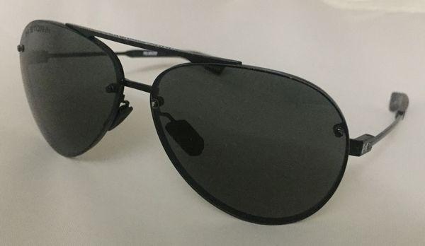 11e77bbc3e Under Armour Aviator Sunglasses Black Polarized Double Down Storm ...