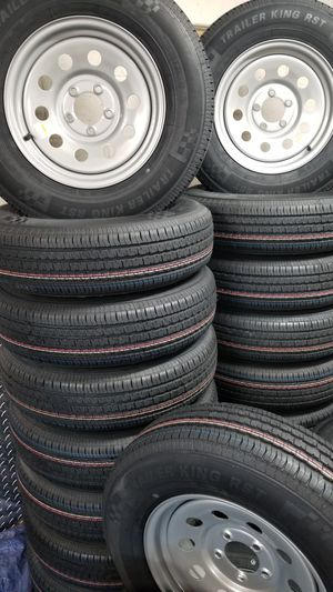 NEW TRAILER TIRES AND WHEELS STARTING AT $60+ TAX AND UP TIRE/RIM SEE BELOW FOR DETAILS for Sale in Douglasville, GA