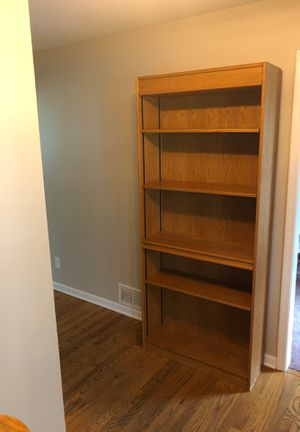 3 Custom handmade bookshelves. Solid oak. Adjustable shelves. 80H x 34W x 12D. 3 available. for Sale in Sugar Grove, IL