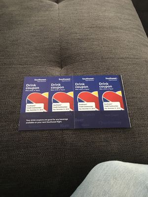 4 Southwest Drink Coupons for Sale in Bristow, VA