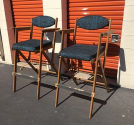 Vintage Contemporary Elite Camelback Folding Director Chairs / Bar Stools High Chairs for Sale in Whittier,  CA