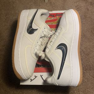 Travis Scott Nike Air Force 1 Low White for Sale in Las Vegas, NV