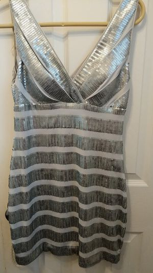Dress, size medium tight fitting silver with sequence for Sale in Mount Prospect, IL