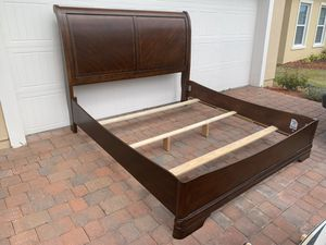 king sized bed frame solid wood for Sale in Poinciana, FL