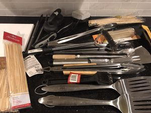 Mixed grilling tools for Sale in Chantilly, VA