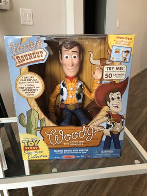 Toy Story Signature Collection, Woody The Sheriff, Talking Figure, Woody's Roundup for Sale in Las Vegas, NV