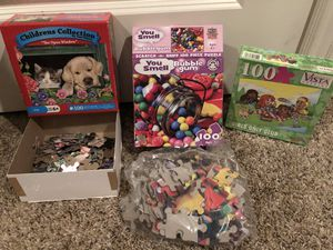 Sealed scratch n sniff bubble gum puzzle, sealed girls only club puzzle, the open window cat dog garden puzzle 🧩 Lot sale ! for Sale in Phoenix, AZ