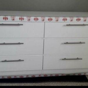 White Dresser New ~ W 57.5 x 71.5 H x 15.5 D Blanco Nuevo (BLACK for Sale in Hollywood, FL