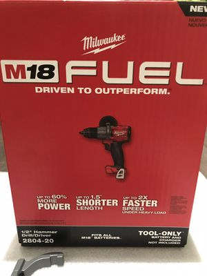 M18 FUEL 18-Volt Lithium-Ion Brushless Cordless 1/2 in. Hammer Drill / Driver (Tool-Only) nrand new in a box for Sale in Union City, CA