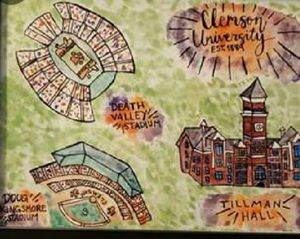 Clemson & Carolina Water Color painting for Sale in West Columbia, SC