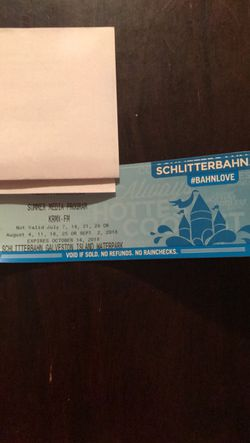 Schlitterbahn tickets to Galveston for Sale in Waco,  TX