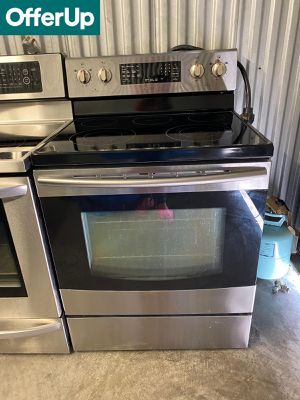 Samsung Stainless Steel Electric Stove Oven Glass Top #1281 for Sale in Deltona, FL
