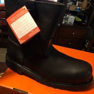 Brand new valen leather steel toe boots size 7 8 9 10 for Sale in McAllen, TX